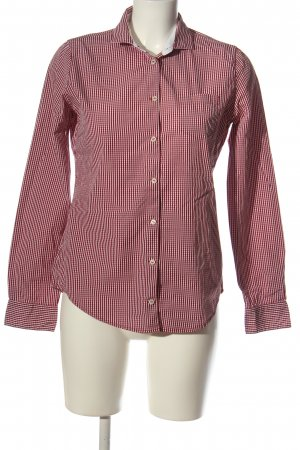 Marc O'Polo Langarmhemd rot-weiß Allover-Druck Casual-Look