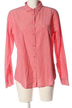 Marc O'Polo Langarmhemd pink-blassgelb Streifenmuster Business-Look