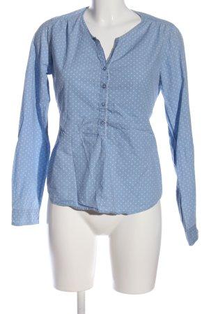 Marc O'Polo Langarmhemd blau-weiß Punktemuster Business-Look