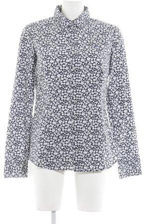 Marc O'Polo Langarmhemd dunkelblau-weiß Casual-Look
