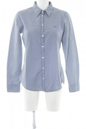 Marc O'Polo Langarmhemd dunkelblau-weiß Karomuster Business-Look