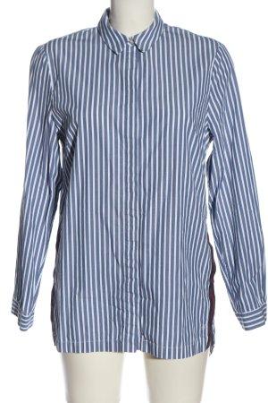 Marc O'Polo Langarmhemd blau-weiß Streifenmuster Casual-Look