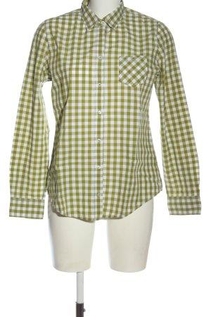 Marc O'Polo Langarmhemd grün-weiß Allover-Druck Casual-Look