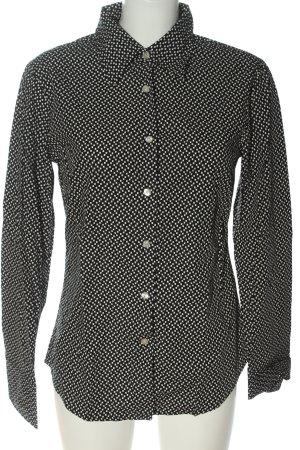 Marc O'Polo Camisa de manga larga negro-blanco look casual