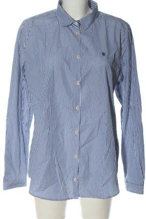 Marc O'Polo Langarmhemd weiß-blau Allover-Druck Business-Look