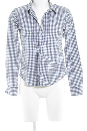 Marc O'Polo Langarmhemd weiß-blau Karomuster