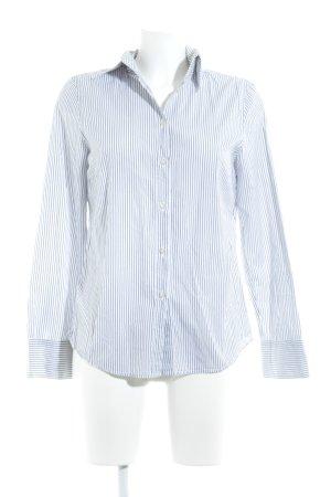 Marc O'Polo Langarmhemd weiß-schwarz Streifenmuster Business-Look