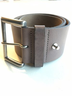 Marc O'Polo Leather Belt grey brown