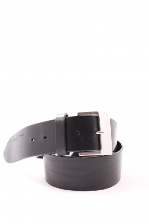 Marc O'Polo Leather Belt black-silver-colored casual look