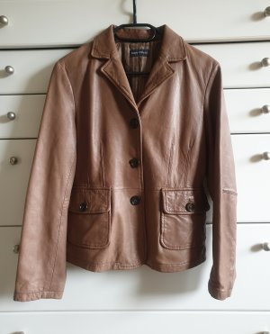 Marc O'Polo Veste en cuir brun