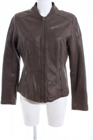 Marc O'Polo Lederjacke braun Casual-Look