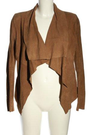 Marc O'Polo Veste en cuir brun style décontracté