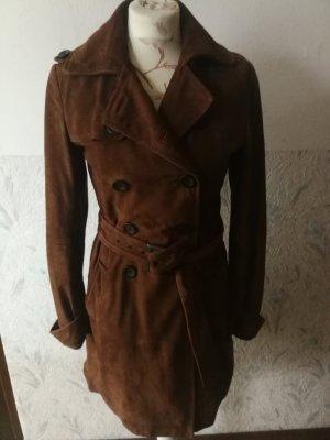 Marc O'Polo Leather Coat cognac-coloured