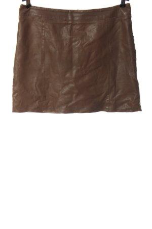 Marc O'Polo Falda de cuero marrón look casual