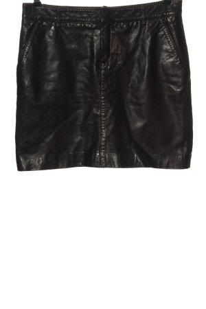 Marc O'Polo Jupe en cuir noir style mouillé