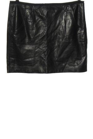 Marc O'Polo Jupe en cuir noir style décontracté