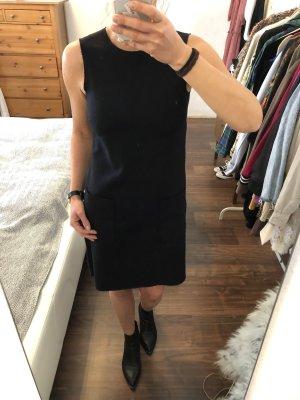 Marc O'Polo leichtes Wollkleid Kleid Schur-Wolle marineblau Gr. 34 XS