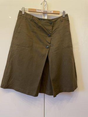 Marc O'Polo Linen Skirt khaki-green grey