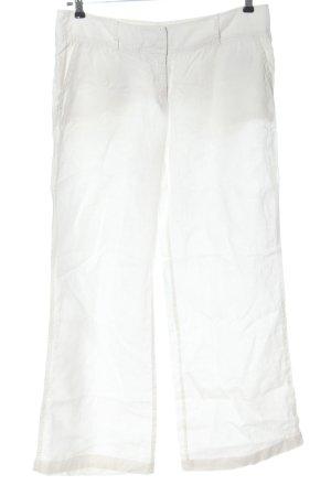 Marc O'Polo Pantalon en lin blanc style décontracté