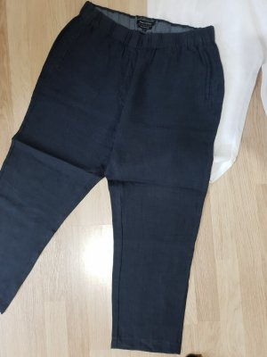 Marc O'Polo Linen Pants dark blue linen