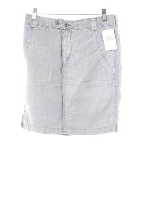Marc O'Polo Leinenrock graublau meliert schlichter Stil
