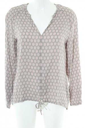 Marc O'Polo Long-Bluse Allover-Druck Casual-Look