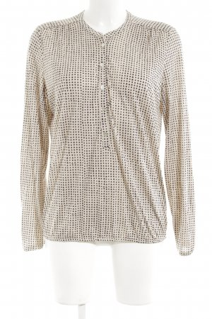 Marc O'Polo Longshirt creme-schwarz Punktemuster Casual-Look