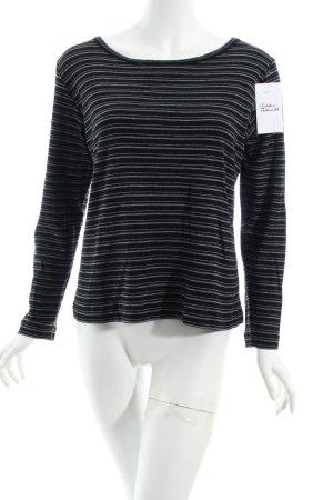 Marc O'Polo Longshirt schwarz-weiß Streifenmuster Casual-Look