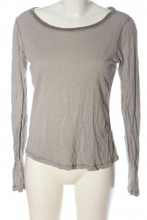 Marc O'Polo Longsleeve natural white-brown striped pattern casual look