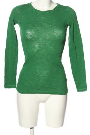 Marc O'Polo Longsleeve grün Casual-Look