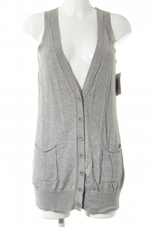 Marc O'Polo Longstrickweste grau Casual-Look