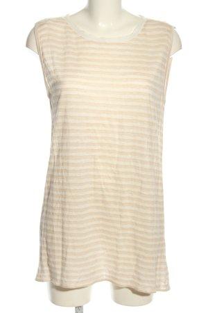 Marc O'Polo Długi top kremowy-nude Wzór w paski W stylu casual