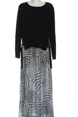 Marc O'Polo Maxi abito nero-bianco motivo grafico elegante