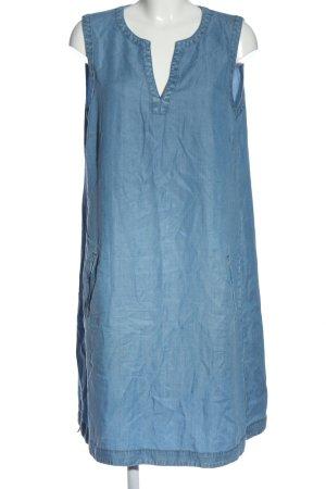 Marc O'Polo Robe mi-longue bleu moucheté style décontracté