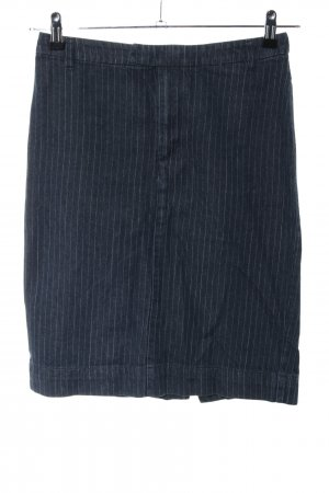 Marc O'Polo Midirock schwarz Streifenmuster Business-Look