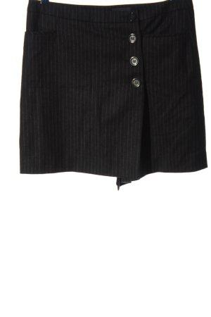 Marc O'Polo Mini rok zwart gestreept patroon casual uitstraling