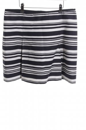 Marc O'Polo Minirock schwarz-weiß Streifenmuster Casual-Look