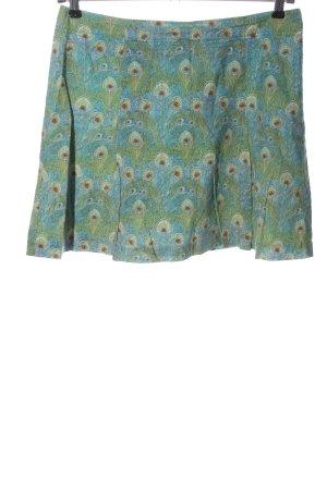 Marc O'Polo Mini rok groen-blauw volledige print casual uitstraling
