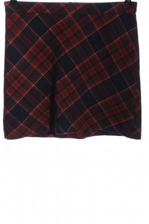 Marc O'Polo Mini rok blauw-rood volledige print casual uitstraling