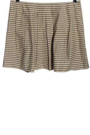 Marc O'Polo Spódnica mini kremowy-czarny Wzór w paski W stylu casual