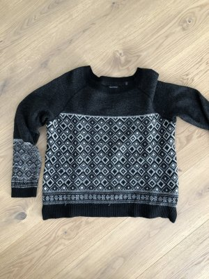 Marc O'Polo Norwegian Sweater white-black wool