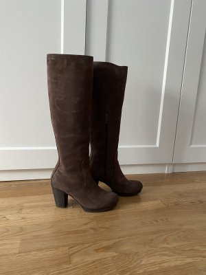 Marco Polo Platform Boots brown-dark brown leather