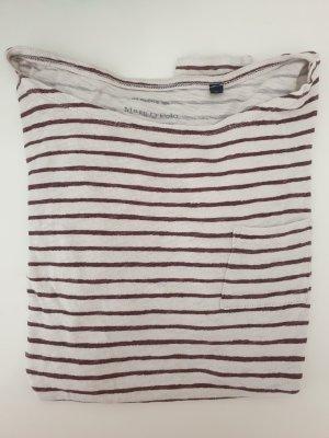 Marc O'Polo Stripe Shirt oatmeal-bordeaux
