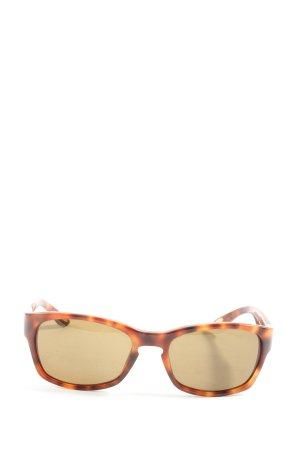 Marc O'Polo ovale Sonnenbrille hellorange-schwarz Allover-Druck Casual-Look