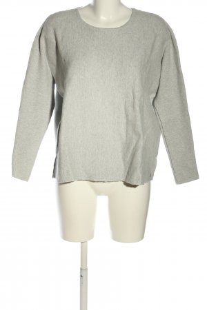 Marc O'Polo Oversized Pullover hellgrau meliert Casual-Look