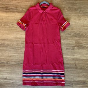 Marc O'Polo Robe Polo rouge framboise-magenta coton