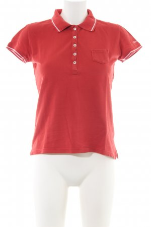 Marc O'Polo Polo-Shirt rot Casual-Look