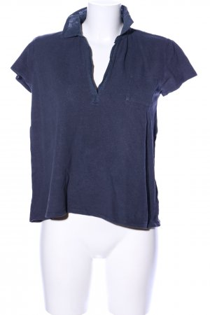 Marc O'Polo Polo-Shirt blau meliert Casual-Look
