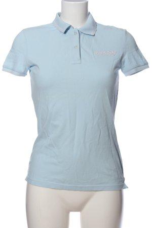 Marc O'Polo Polo-Shirt blau Schriftzug gestickt Casual-Look
