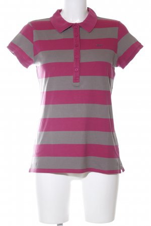 Marc O'Polo Polo-Shirt hellgrau-pink Streifenmuster Business-Look